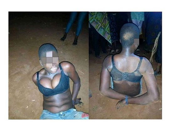Female robber arrested as boyfriend abandons her during operation