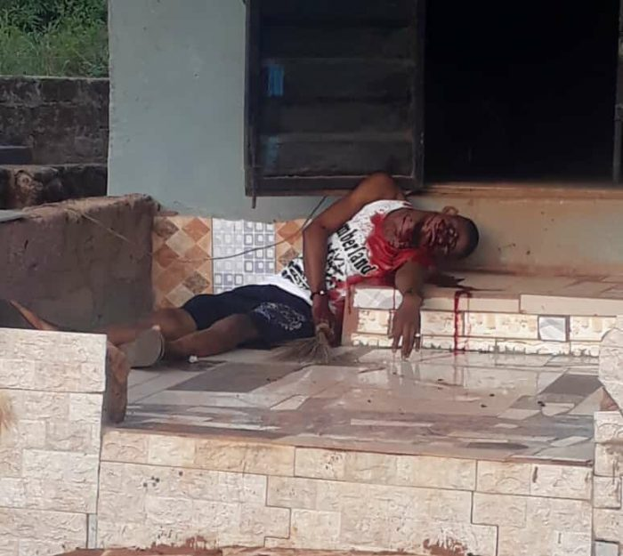 GRAPHIC: Cultists Murder Barber In Broad Daylight In Edo