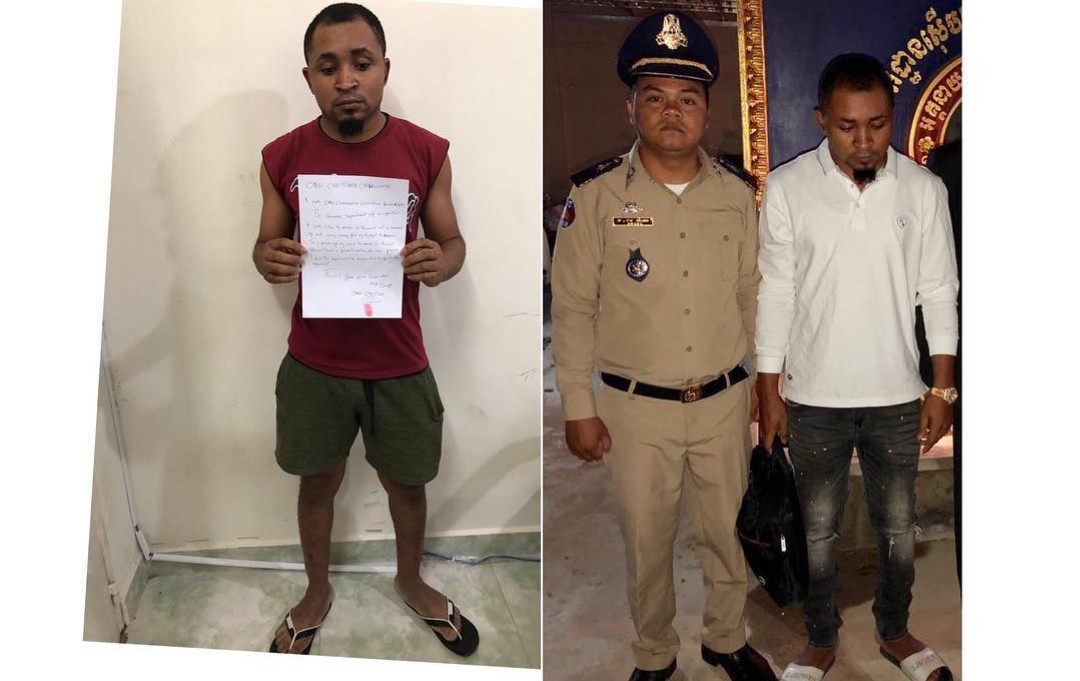 Nigerian man deported from Cambodia to Thailand