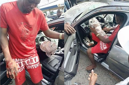 Man crashes a borrowed Benz while speeding in Delta
