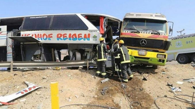 SAD: 60 People Killed As 2 Buses Are Involved In An Accident