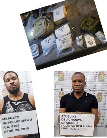 Two Nigerians nabbed with N125m worth of drugs in Philippines