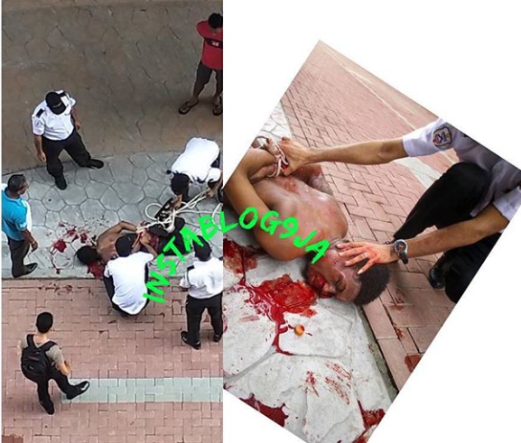 Graphic: One in coma as 2 Nigerians fight over girls in Malaysia (Watch Video)
