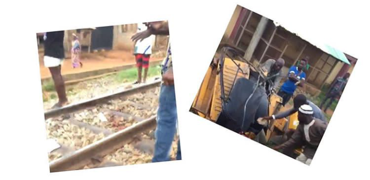 Graphic: 5 dead as train crushes a tricycle in Lagos