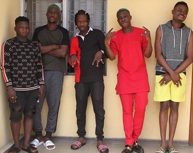EFCC finally parades Naira Marley, Zlatan Ibile, Raman Jago, others over internet fraud.