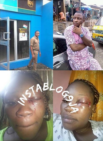 UPS Staff Flees After Viciously Attacking His Wife In Lagos