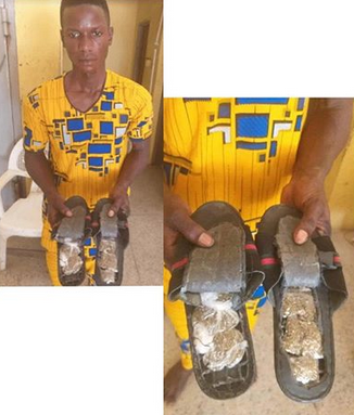 Man Arrested For Using Sandals To Smuggle Cannabis Into Abuja Prison