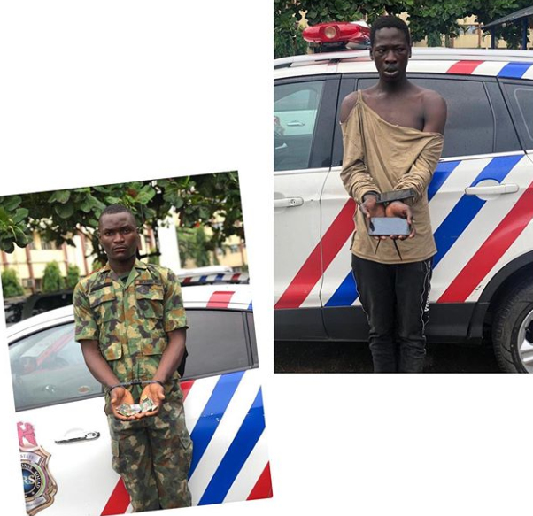 BUSTED!!! Fake Soldier, Robber Of Corps Member Arrested In Lagos