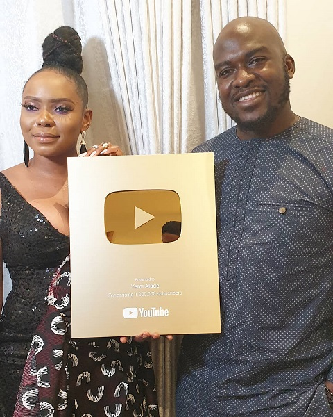Yemi Alade Gets Awarded With YouTube 'Gold Play Button'