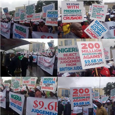Protest at British High Commission over $9bn judgement against Nigeria