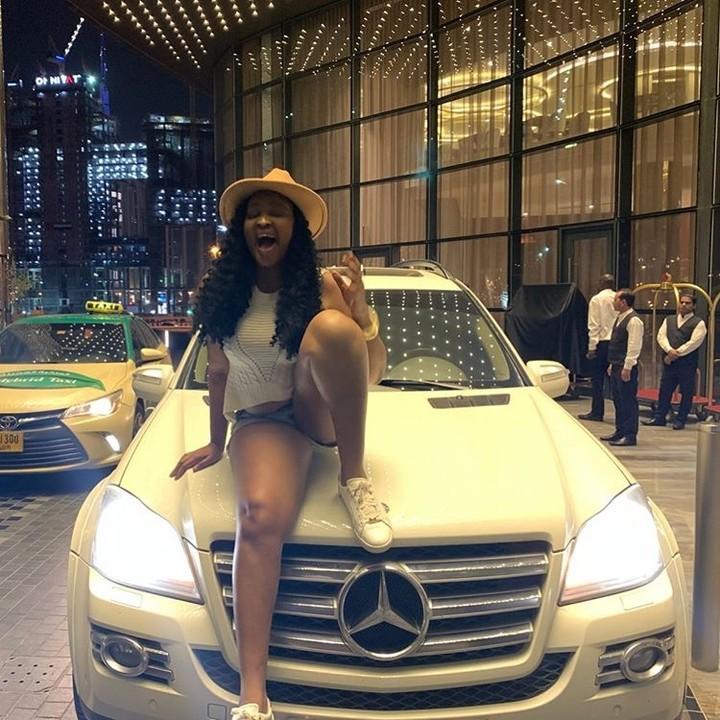 Actress Etinosa Receives New Mercedes Benz As Gift In Dubai