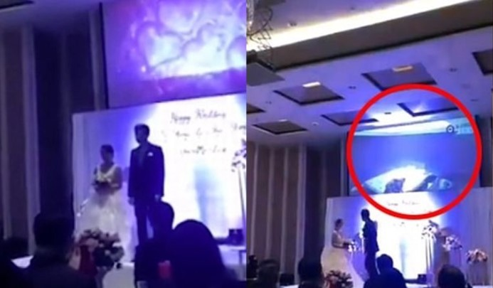 SHOCKING: Groom Plays Clip of his Wife-to-be in Bed with another Man at Wedding Reception (Video)