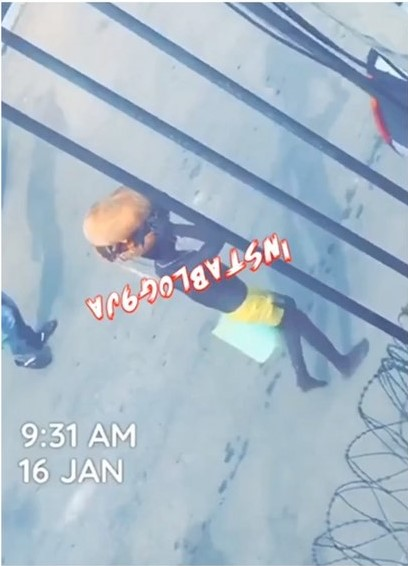 Watch The Moment Residents Prevent A Boy From Dropping His Sacrifice On Their Streets In Agege, Lagos
