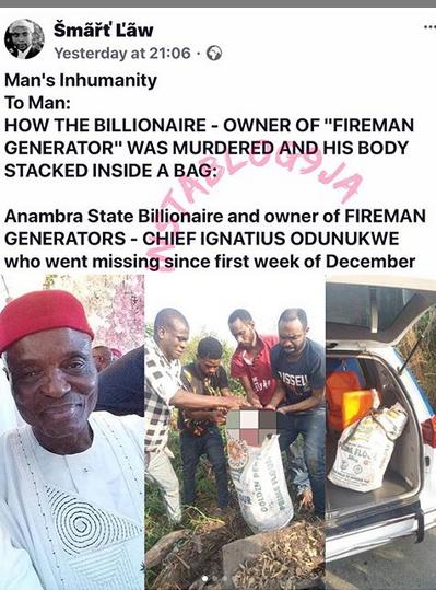 How Billionaire Owner of Fireman Generator was Killed - Lawyer Reveals
