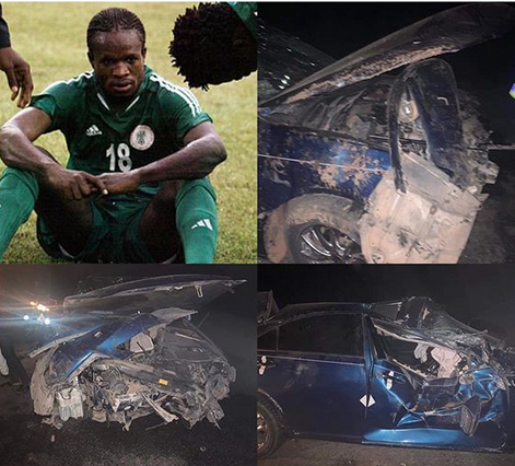 Nigerian footballer, Christian Obodo and his mom involved in a car crash