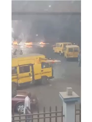 Watch the moment Ijora touts clash with the Police over Okada Ban in Lagos